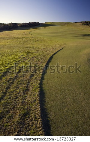 Golf Course Green in Botany Bay National Park - stock photo