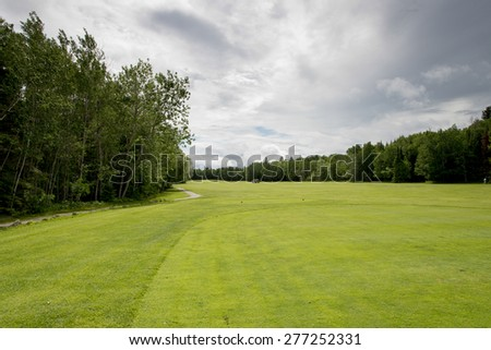 Golf course, Hecla Grindstone Provincial Park, Manitoba, Canada - stock photo