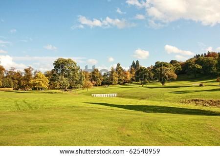 Golf Course in Falkirk Park, Scotland - stock photo