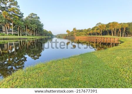 Golf Course in Hilton Head Island, South Carolina - stock photo