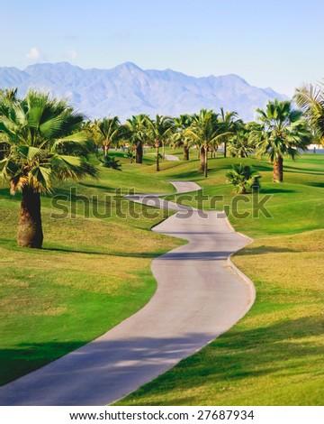 Golf course in Puerto Vallarta, Mexico - stock photo