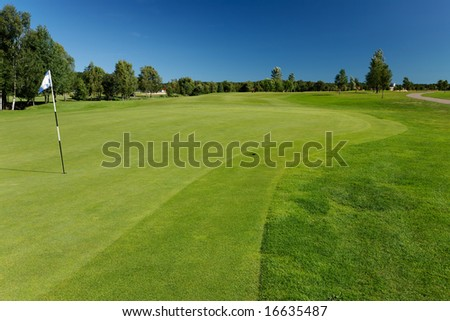 Golf course in Skogaby, Sweden - stock photo