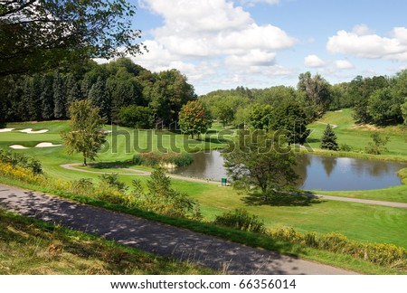 Golf Course in upstate New York - stock photo