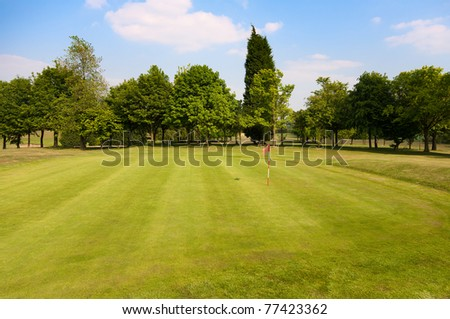 Golf Course in Yorkshire, UK. - stock photo