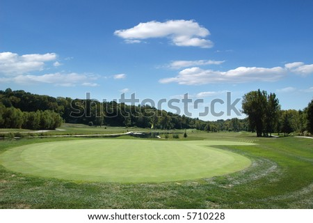 Golf course on a sunny day