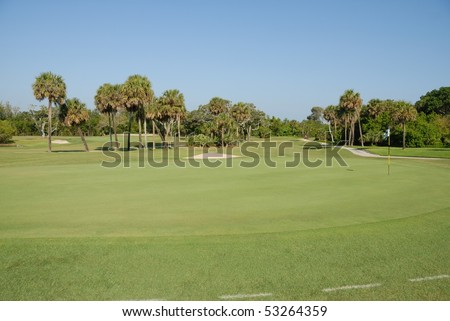 Golf course on east coast of florida