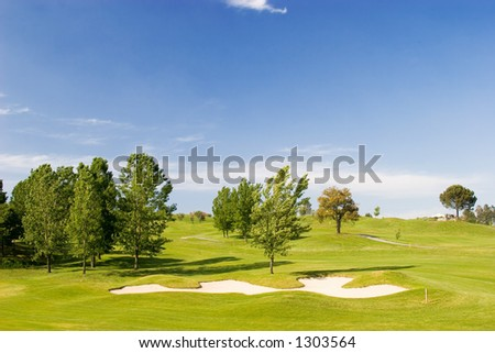 Golf course on spring/summer day