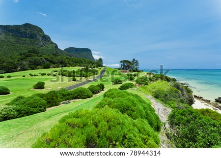 Golf Course on the coast of Lord Howe Island