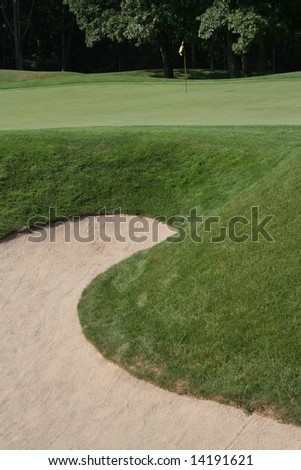 GOLF COURSE SAND TRAP - stock photo