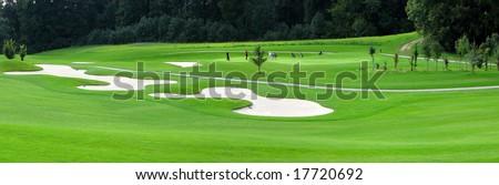 Golf course, Switzerland - stock photo