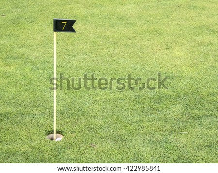 Golf course, symbolic photograph, hole number 7