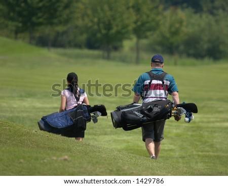 Golf Duo - stock photo