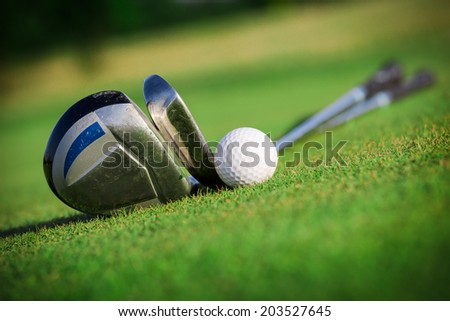 Golf equipment - stock photo