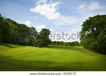 Golf fairway - stock photo