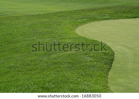 Golf Fairway and Green - stock photo