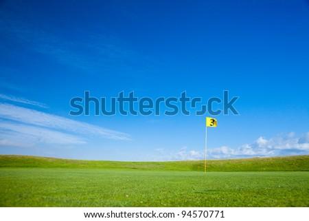 golf field - stock photo