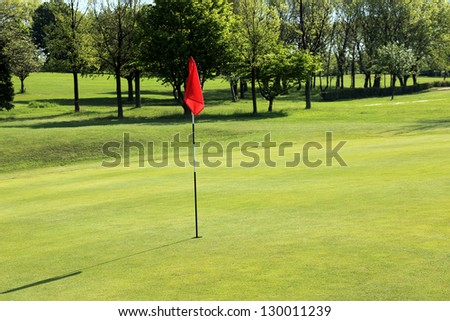 Golf field, England - stock photo