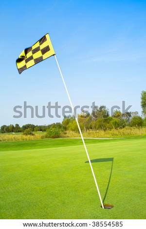 Golf flag - stock photo