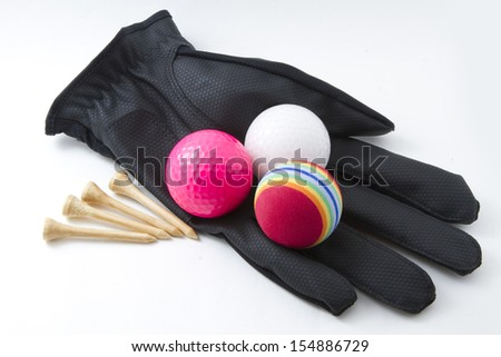 Golf glove and accessories - stock photo