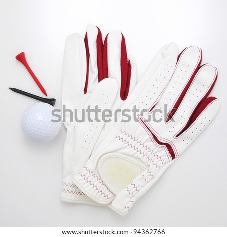 Golf Glove and Ball - stock photo