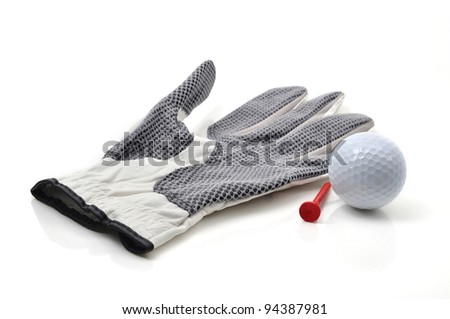 Golf Glove and Ball - stock photo