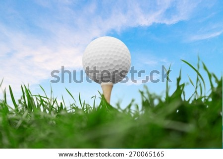Golf, Golf Ball, Golf Course. - stock photo