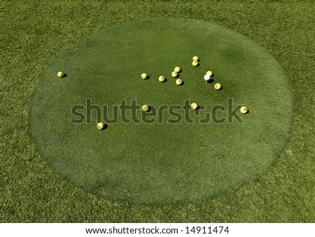 Golf Green - stock photo