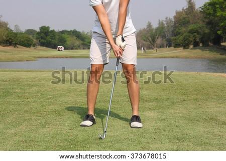 golf grip - stock photo
