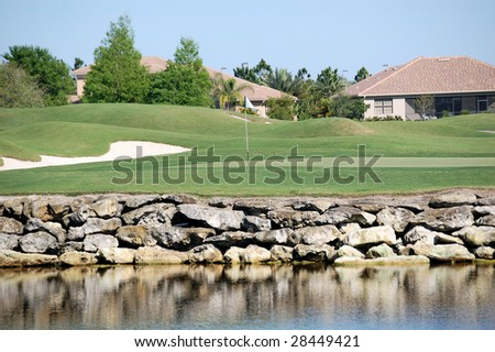Golf Hole - stock photo