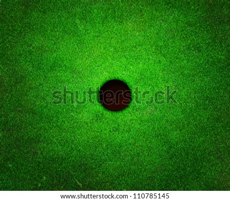 Golf Hole Background - stock photo