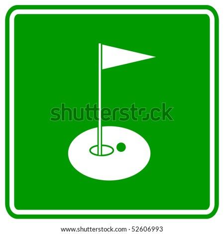 golf hole sign - stock photo