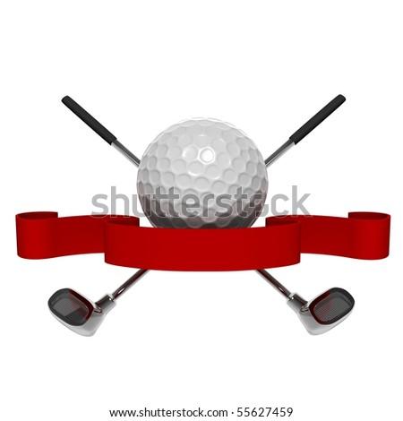 golf icon - stock photo