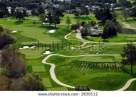Golf In California - stock photo