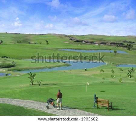 Golf in Porto Santo Island - stock photo