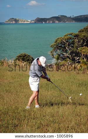 Golf - In the Rough - stock photo