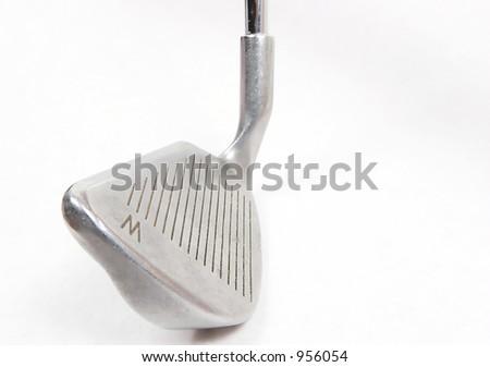 Golf Iron Wedge Isolated on White - stock photo
