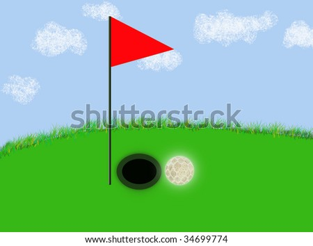 Golf, jpeg illustration