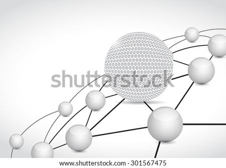 golf link sphere network connection concept illustration design graphic background - stock photo