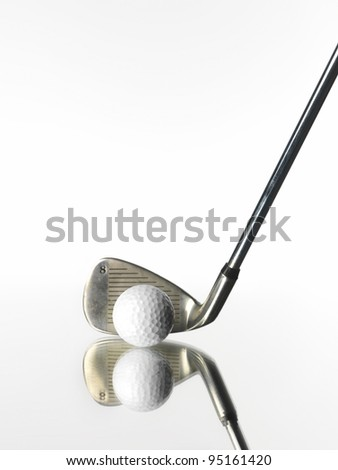 Golf Objects on white background