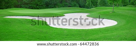 Golf on the green grass - stock photo