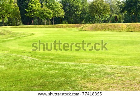 Golf park - stock photo