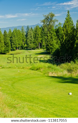 Golf place with gorgeous green