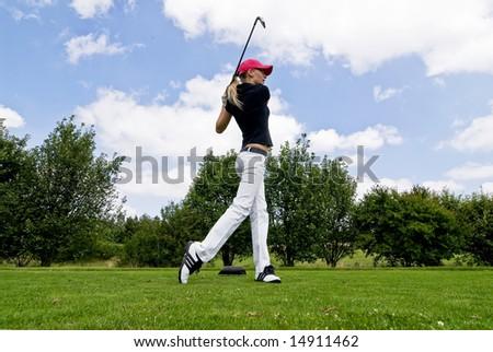 Golf Player - stock photo