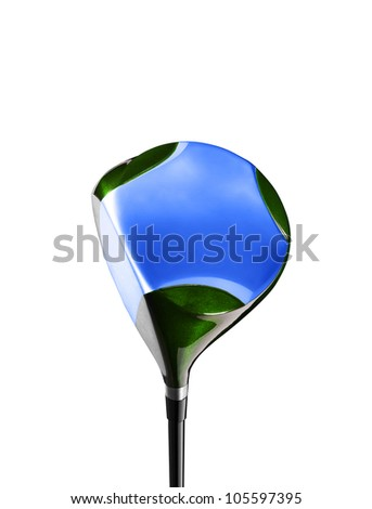 Golf stick isolated on white - stock photo