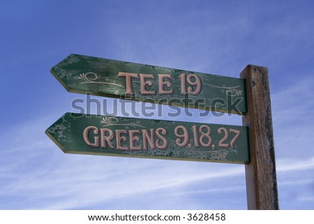 golf tee signal - stock photo