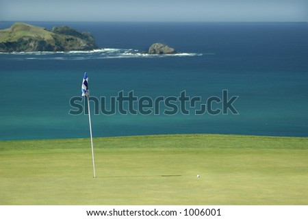 Golf - The Green - stock photo