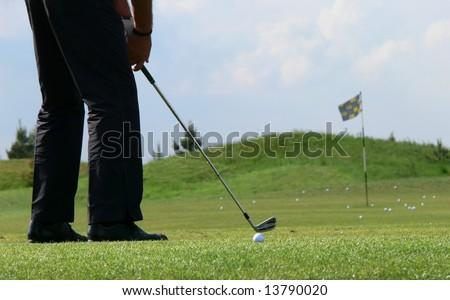 Golf training - stock photo