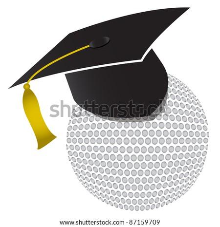 Golf training school illustration design - stock photo