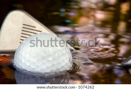 Golf water hazard and making a come back
