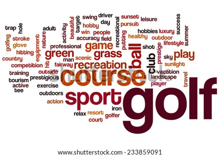 Golf word cloud concept - stock photo